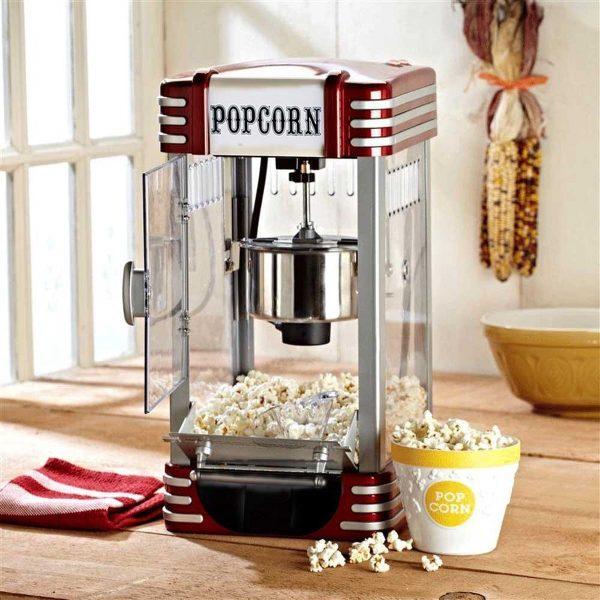 Retro popcornmachine deluxe Popcornmaker - 30 x 25 x 50 cm