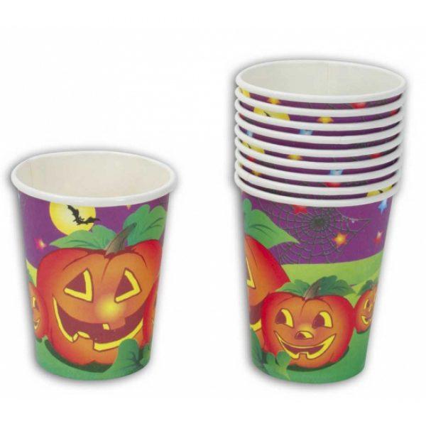 Halloween feest bekertjes 10 stuks -