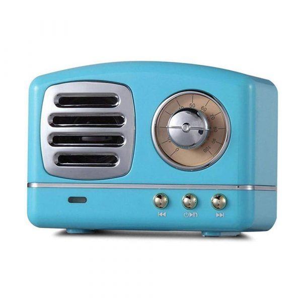 Retro Bluetooth Speaker - Blauw
