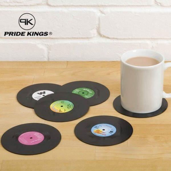 Retro Vinyl LP Onderzetters (set van 6)