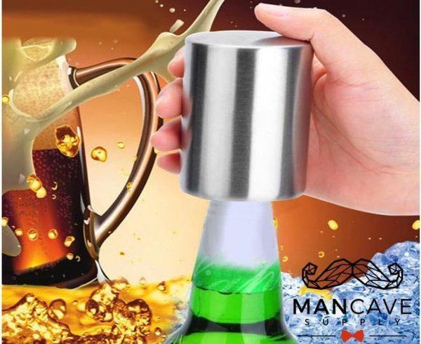 Automatische Flessenopener - RVS Bieropener - Flesopener Gadget - Opener Bier