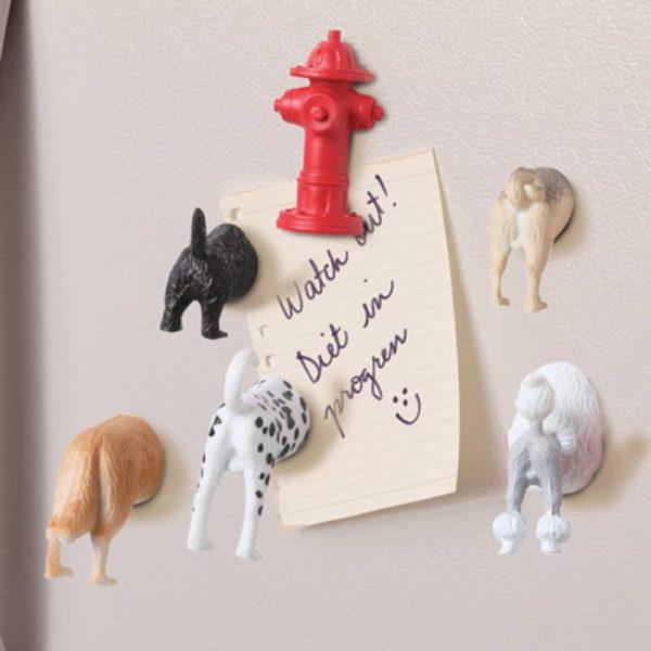 Butt Magneten (Set Van 6) - Honden - Kikkerland