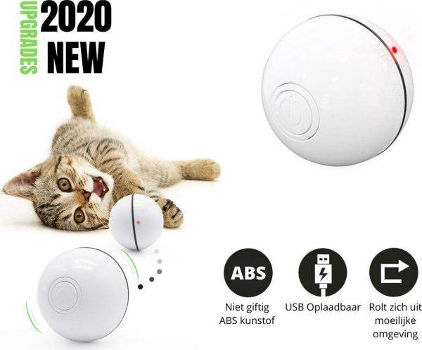 JIMMAR Zelf Rollende Bal - Magic Roller Ball - Katten Speelgoed - Kattenspeeltjes - Hond / Kat - Automatisch