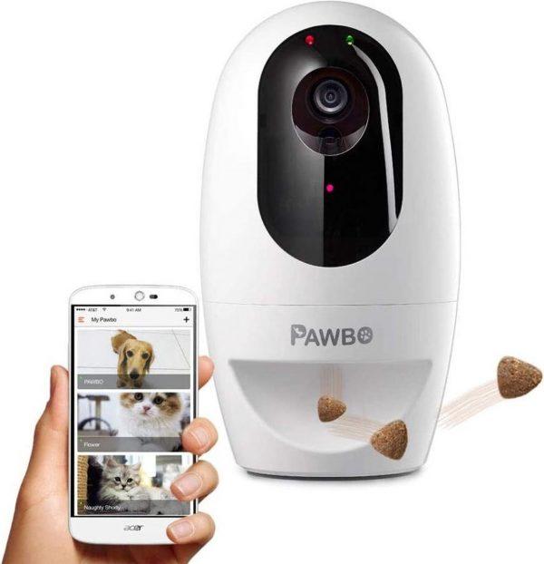 Pawbo+ Interactieve voerautomaat voor katten & honden | Full-HD Camera