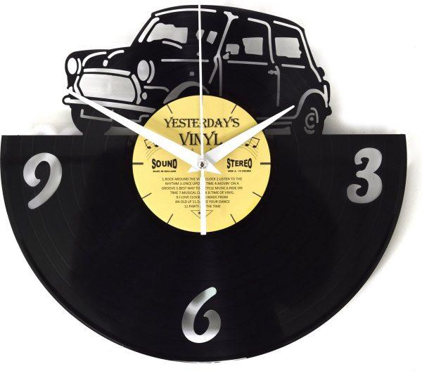 Retro - Vinyl klok - Uniek kado - Auto - Met geschenkverpakking - Gemaakt van een echte langspeelplaat