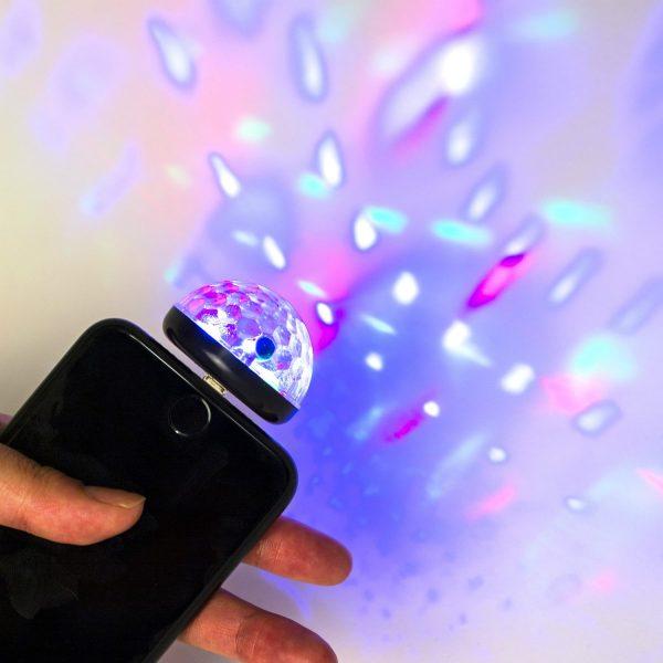 Kikkerland IPhone Discolamp - Zwart