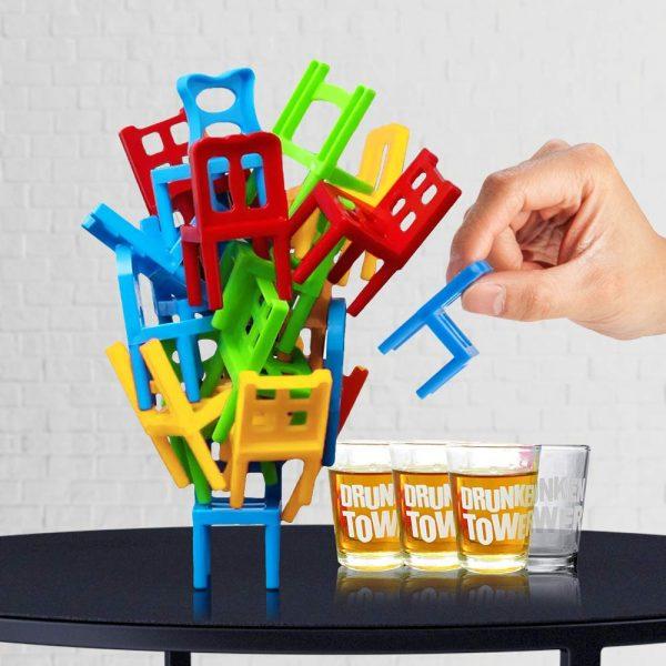 Drankspel - Stoelen Balanceren