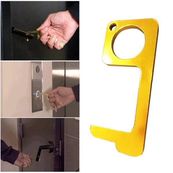 Hygiëne Sleutel - Antibacterieel - Sleutelhanger - Contactloos - No Touch Key - Deuropener - Stylus - Multifunctionele Gadget - Handige Tool