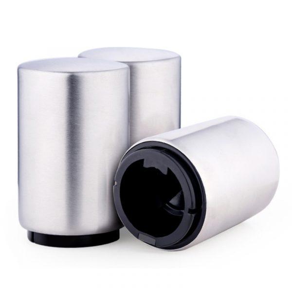 Magnetische automatische bier fles Cap Opener RVS duw omlaag Gadgets van de keuken van bier Opener grootte: 8.5 x 5.2cm