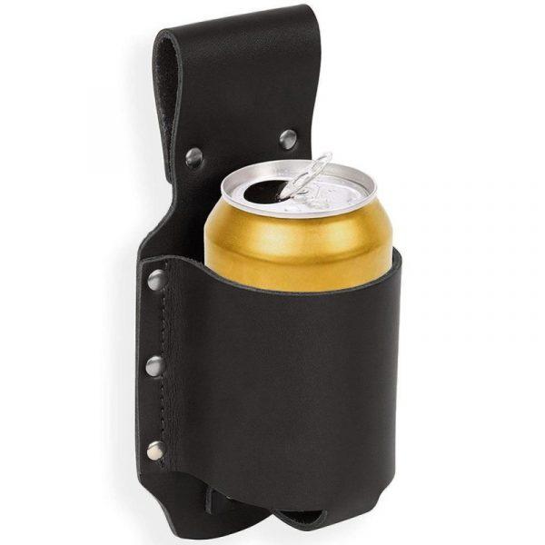 Outdoor Opknoping Taille Blikjes Drank Bierfles Holster (Zwart)