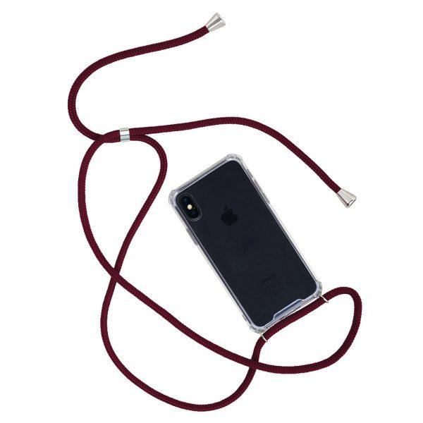 Telefoonhoesje met Koord - iPhone -iPhone X/XS - Rood