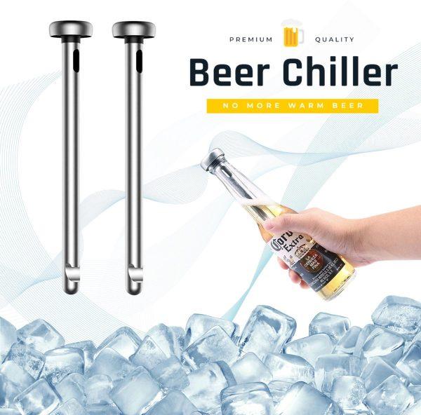 Bier koeler stick - Bier cadeau pakket - Drank koeler - Bierfles gadget - Beer cooler