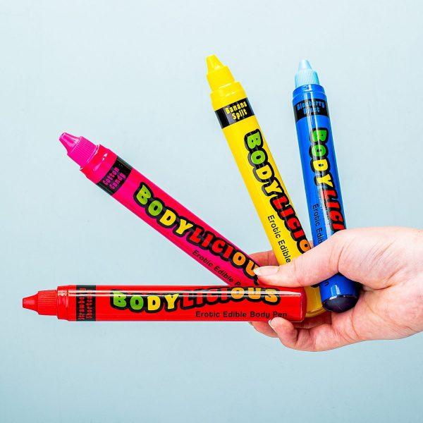 Eetbare Bodypaintpennen (set Van 4)