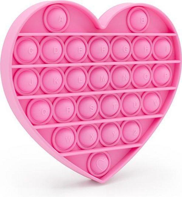 - Pop It - Anti Stress Speelgoed - Thuiswerken gadgets - Stress Verlichtend - Hartje - Roze