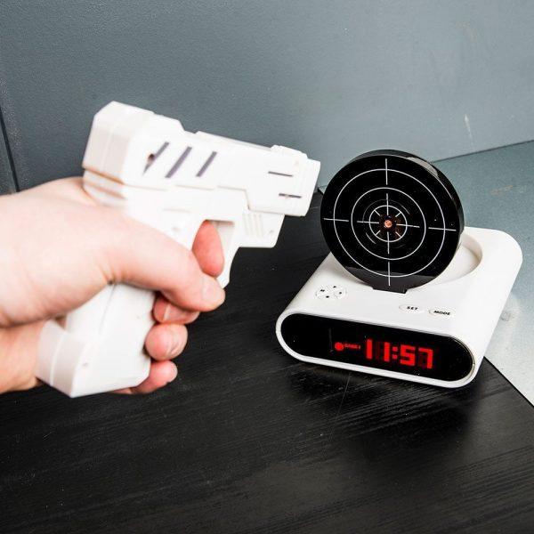 Gun Alarmklok - Wit